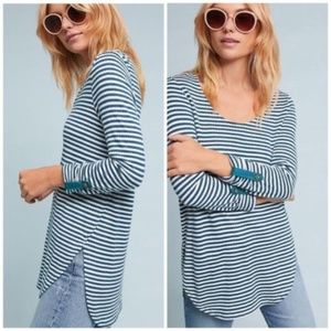 Anthropologie Akemi + Kin Hi-Low Striped Sweater